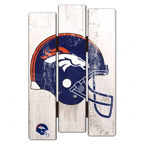 Denver Broncos Sign 11x17 Wood Fence Style