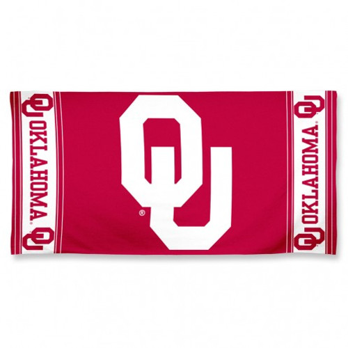 Oklahoma Sooners Towel 30x60 Beach Style