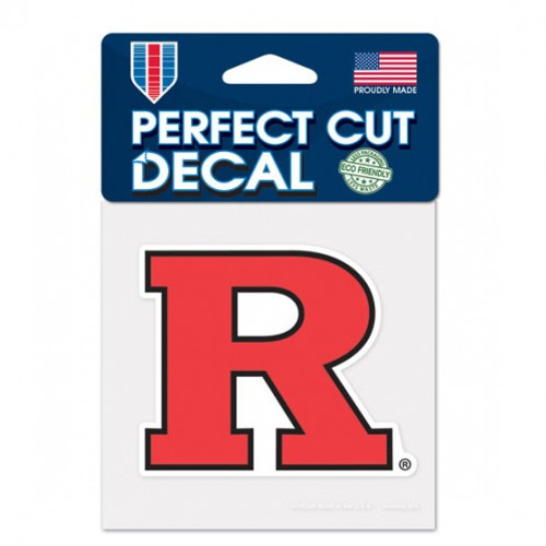 Rutgers Scarlet Knights Decal 4x4 Perfect Cut Color