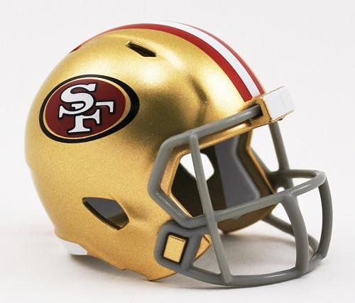 San Francisco 49ers Helmet Riddell Pocket Pro Speed Style