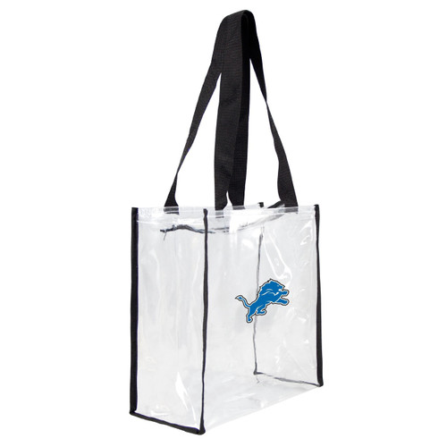 Detroit Lions Clear Square Stadium Tote - Special Order