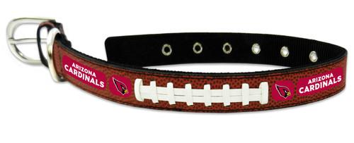 Arizona Cardinals Pet Collar Leather Classic Football Size Medium