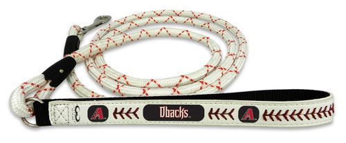 Arizona Diamondbacks A Logo Frozen Rope Baseball Leather Leash - L