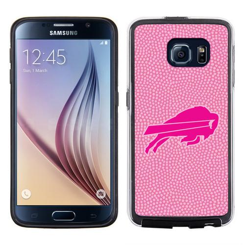 Buffalo Bills Phone Case Pink Football Pebble Grain Feel Samsung Galaxy S6