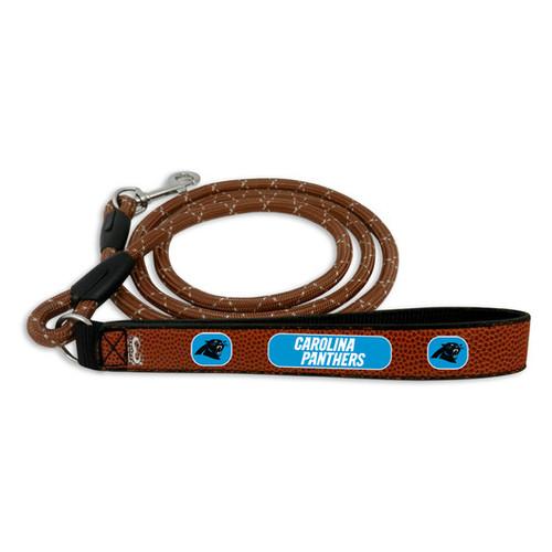 Carolina Panthers Dog Leash - Leather - Football - Size Medium