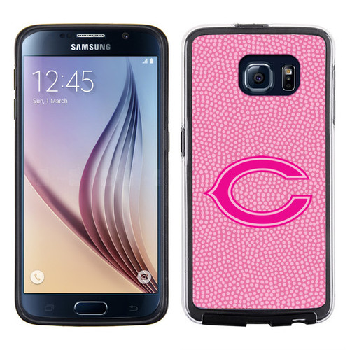 Chicago Bears Phone Case Pink Football Pebble Grain Feel Samsung Galaxy S6