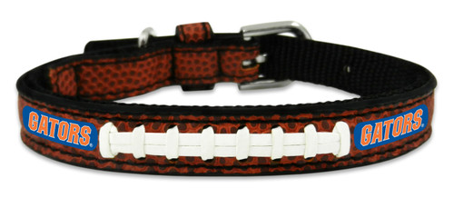 Florida Gators Pet Collar Classic Football Leather Size Toy CO