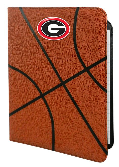 Georgia Bulldogs Classic Basketball Portfolio - 8.5 in x 11 in