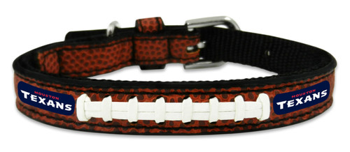 Houston Texans Pet Collar Leather Classic Football Size Toy CO