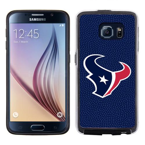 Houston Texans Team Color NFL Football Pebble Grain Feel Samsung Galaxy S6 Case