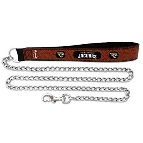 Jacksonville Jaguars Football Leather Leash - L