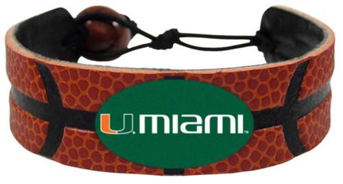 Miami Hurricanes Bracelet Classic Basketball CO