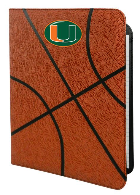 Miami Hurricanes Classic Basketball Portfolio - 8.5 in x 11 in