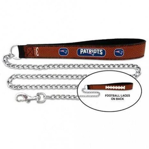 New England Patriots Football Leather Leash - L