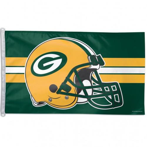 Green Bay Packers Flag 3x5 Helmet - Special Order