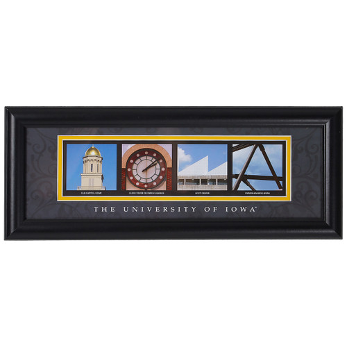 Iowa Hawkeyes Letter Art Print - Iowa