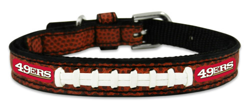 San Francisco 49ers Classic Leather Toy Football Collar