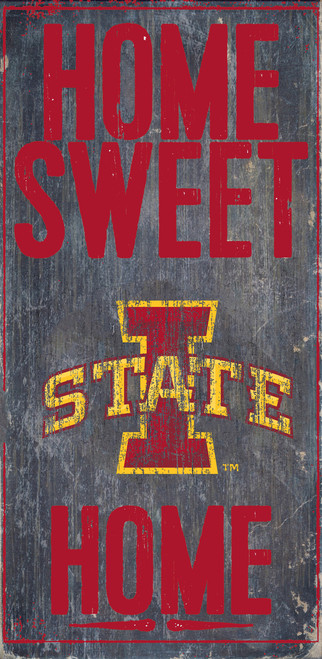 Iowa State Cyclones Wood Sign - Home Sweet Home 6x12 - Special Order