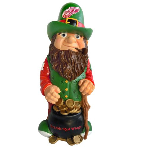 Detroit Red Wings Garden Gnome - Leprechaun