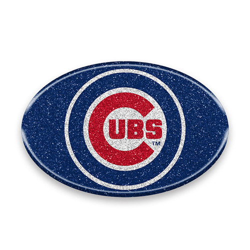 Chicago Cubs Auto Emblem - Oval Color Bling