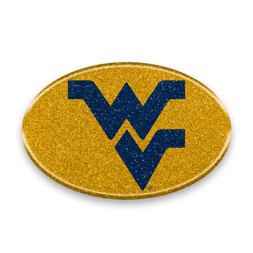West Virginia Mountaineers Auto Emblem - Oval Color Bling