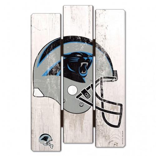 Carolina Panthers Sign 11x17 Wood Fence Style