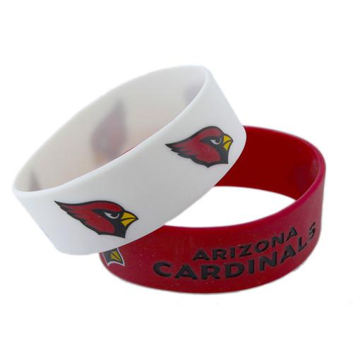 Arizona Cardinals Bracelets 2 Pack Wide - Special Order