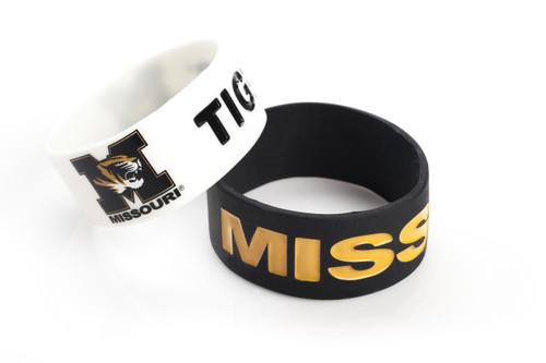 Missouri Tigers Bracelets 2 Pack Wide - Special Order