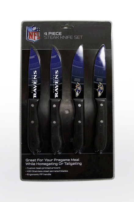 Baltimore Ravens Knife Set - Steak - 4 Pack