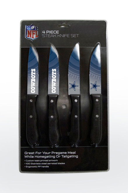 Dallas Cowboys Knife Set - Steak - 4 Pack