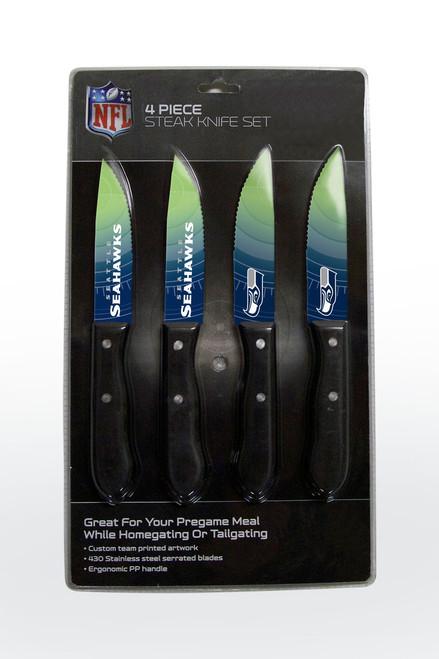 Seattle Seahawks Knife Set - Steak - 4 Pack