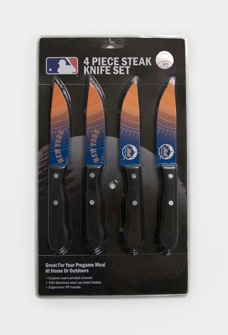 New York Mets Knife Set - Steak - 4 Pack - Special Order