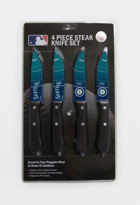 Seattle Mariners Knife Set - Steak - 4 Pack - Special Order