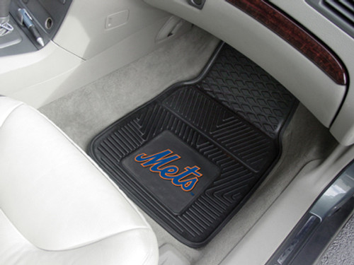 New York Mets Heavy Duty 2-Piece Vinyl Car Mats