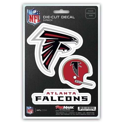 Atlanta Falcons Decal Die Cut Team 3 Pack
