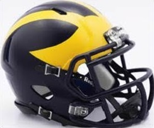 Michigan Wolverines Helmet - Riddell Authentic Full Size - Speed Style - Painted Design - Special Order