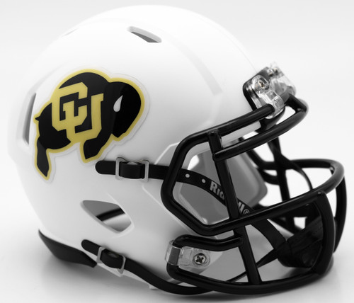 Colorado Buffaloes Helmet - Riddell Replica Mini - Speed Style - Matte White - Special Order