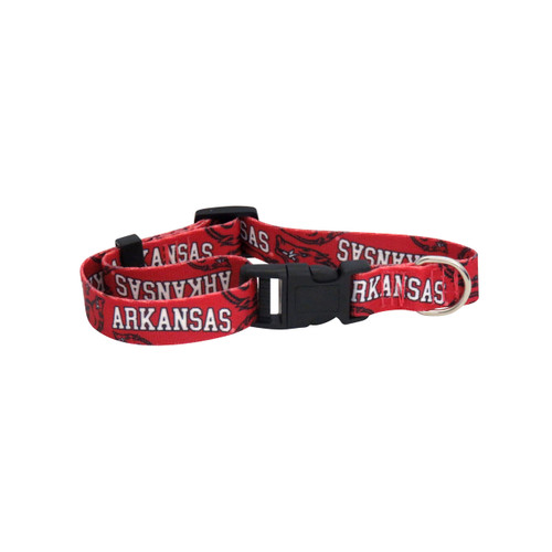 Arkansas Razorbacks Pet Collar Size S - Special Order