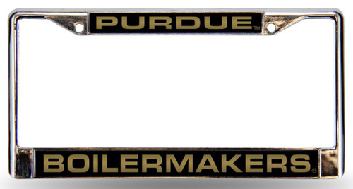 Purdue Boilermakers License Plate Frame Laser Cut Chrome
