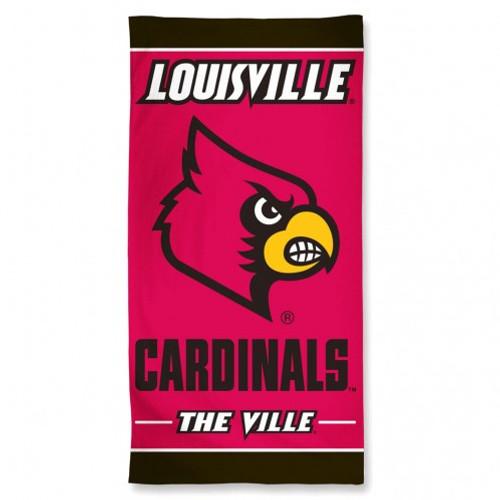 Louisville Cardinals Towel 30x60 Beach Style