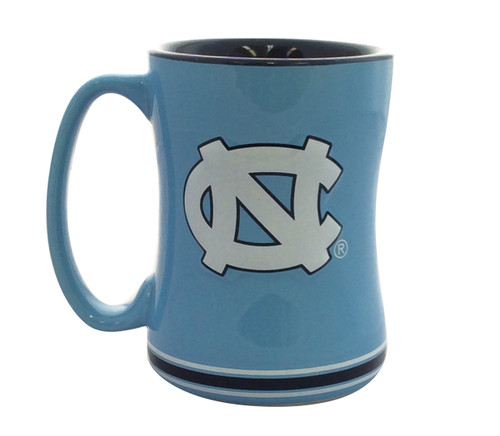 North Carolina Tar Heels Coffee Mug - 14oz Sculpted Relief
