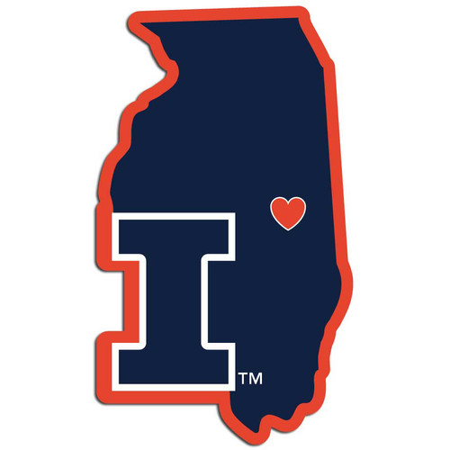 Illinois Fighting Illini Decal Home State Pride Style - Special Order