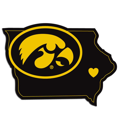 Iowa Hawkeyes Decal Home State Pride Style