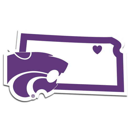 Kansas State Wildcats Decal Home State Pride Style - Special Order