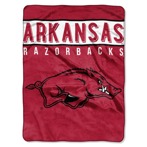Arkansas Razorbacks Blanket 60x80 Raschel Basic Design - Special Order