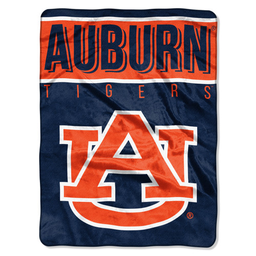 Auburn Tigers Blanket 60x80 Raschel Basic Design