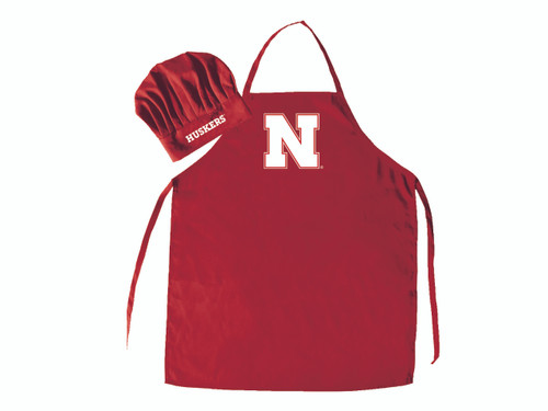 Nebraska Cornhuskers Apron and Chef Hat Set