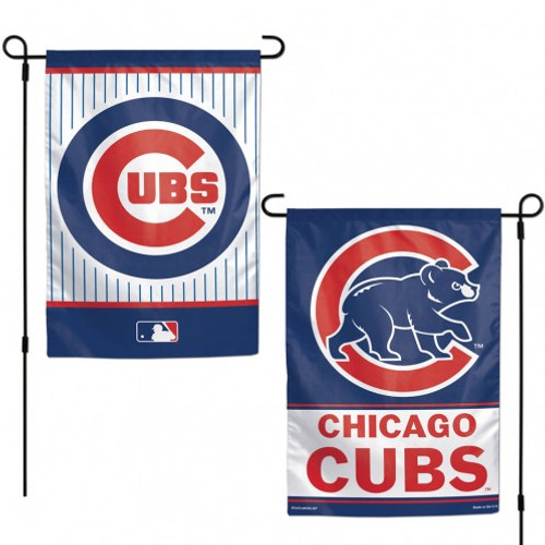 Chicago Cubs Flag 12x18 Garden Style 2 Sided