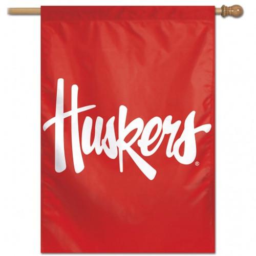Nebraska Cornhuskers Banner 28x40 Vertical Logo Design