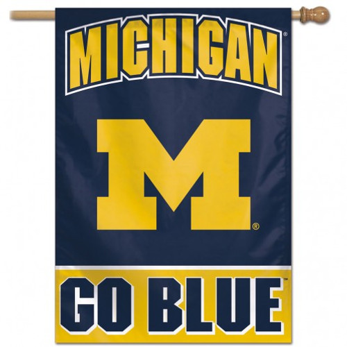 Michigan Wolverines Banner 28x40 Vertical